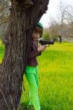 девушка солдата Стоковые Фотографии RF