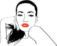 девушка стильная бесплатная иллюстрация