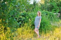 девушка супоросая Стоковая Фотография