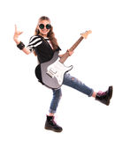 девушка с гитарой Стоковое Изображение