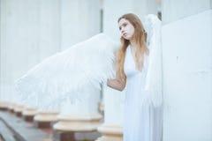 девушка с крылами ангела Стоковое Изображение RF
