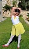 девушка танцы немногая Стоковая Фотография RF