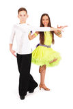 девушка танцы танцульки мальчика бального зала Стоковая Фотография RF