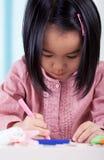 девушка чертежа немногая стоковая фотография