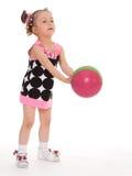 девушка шарика немногая Стоковые Изображения