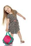 девушка backpack немногая стоковое фото