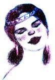 девушка s стороны Стоковое Изображение