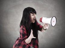 девушка screaming Стоковое Изображение