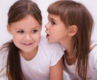 2 девушки беседуют Стоковое Изображение RF
