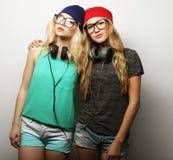 2 девушки битника лучших другов Стоковое фото RF