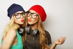 2 девушки битника лучших другов Стоковые Фотографии RF