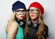 2 девушки битника лучших другов Стоковая Фотография