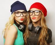 2 девушки битника лучших другов Стоковое Фото