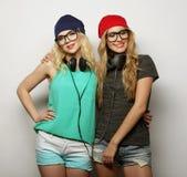 2 девушки битника лучших другов Стоковые Фото