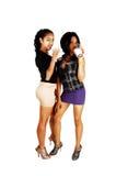 2 девушки выпивая, тип. Стоковые Изображения RF