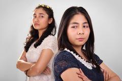 2 девушки в конфликте Стоковое Изображение