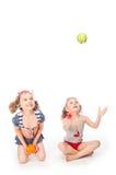 2 девушки в купальных костюмах Стоковые Фото