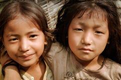 2 девушки в Непале Стоковые Фотографии RF
