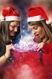 2 девушки в рождестве Стоковое Фото