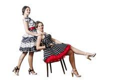 2 девушки в стиле pin-вверх Стоковые Фото