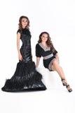 2 девушки в студии Стоковые Фото
