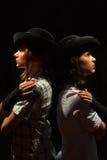 2 девушки в шляпах и перчатках Стоковая Фотография