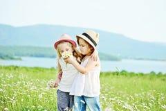 2 девушки в fild Стоковые Изображения RF