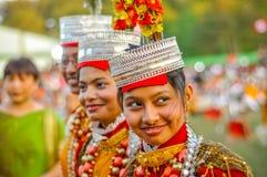 3 девушки в Meghalaya Стоковые Фотографии RF