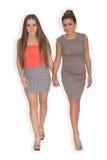 2 девушки идя совместно Стоковые Изображения