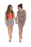 2 девушки идя совместно Стоковые Фото