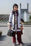 2 девушки на квадрате имама, Isfahan Иране стоковое изображение rf