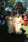 3 девушки на фестивале Стоковые Фотографии RF