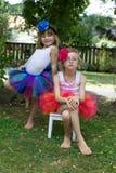 2 девушки нося балетные пачки. Стоковые Фотографии RF