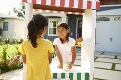 2 девушки дома сделанной лимонад заглохнуть Стоковые Фотографии RF