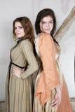 2 девушки одетой как принцесса Стоковое фото RF