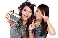 2 девушки подростка Стоковые Фото