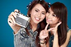 2 девушки подростка Стоковое Фото