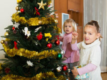девушки рождества меньший вал Стоковое Изображение