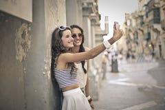 2 девушки совместно Стоковое Изображение
