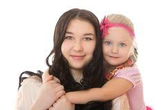 2 девушки с коробками для подарков Стоковая Фотография