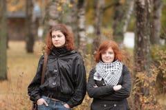 2 девушки с красными волосами Стоковые Изображения