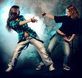 девушки танцы 2 Стоковое фото RF