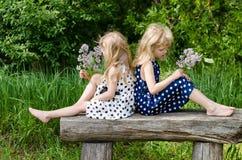 2 девушки blong Стоковые Изображения RF