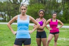 3 девушки Jogging Стоковое Изображение RF