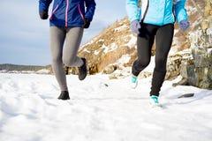 2 девушки jogging Стоковая Фотография