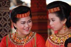 2 девушки Torajan Стоковые Фотографии RF