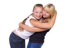 2 девушк-подростка Стоковое Изображение