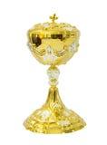 Евхаристия кубка на белой предпосылке Стоковое Изображение RF