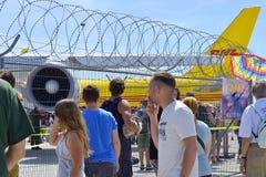 девятидесятая годовщина авиапорта Лейпциг-Галле, выставка, авиапорт Германии, Лейпциг-Галле, 06/11/2017 Стоковое фото RF