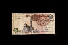 Египетская банкнота, висок Ramses II на Abu Simbel, одном египетском фунте стоковые фотографии rf